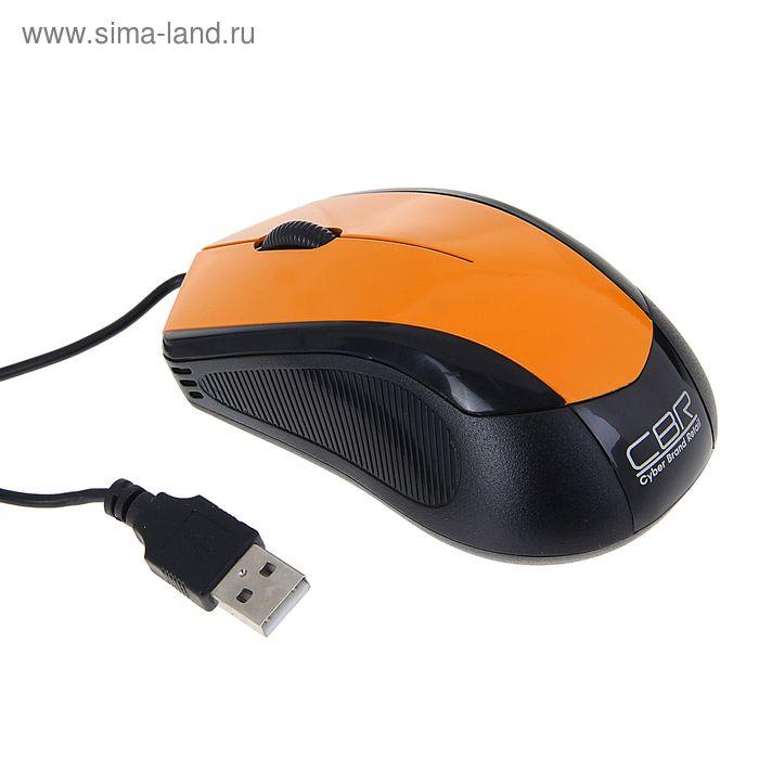 Мышь CBR CM-100 Orange, оптическая, проводная, 1200 dpi, провод 1.3 м, USB