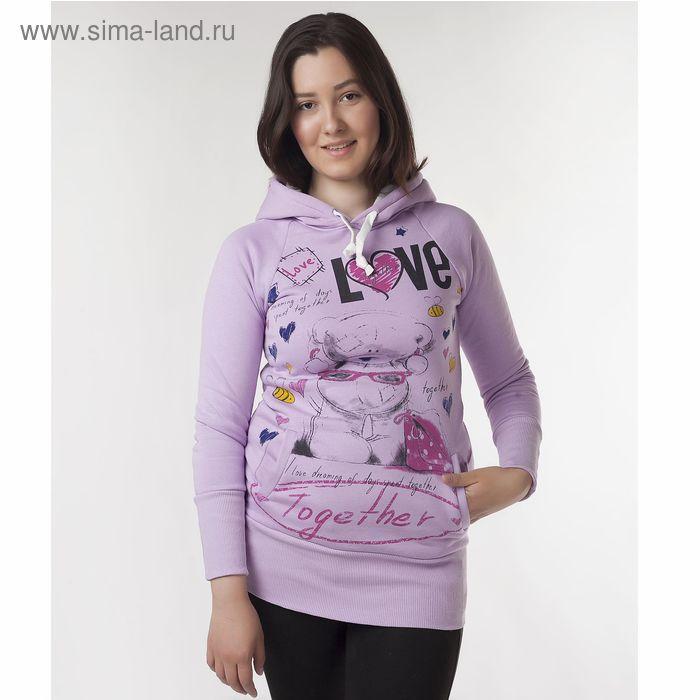 """Худи женские """"Мишка лав"""", цвет фиолетовый, размер 42 (XS) (арт. ХЖ-СТ0004)"""