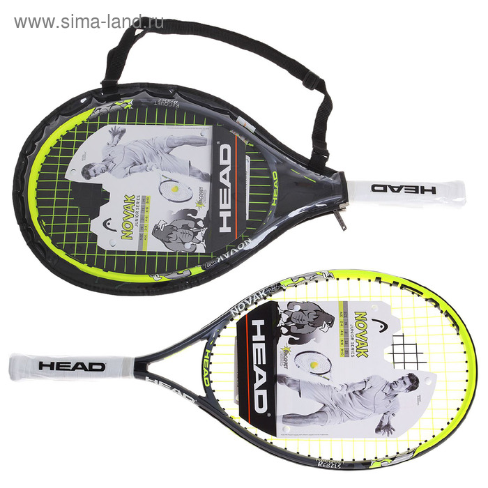 Ракетка для большого тенниса детская Head Novak 23 S06, алюминий, со струнами