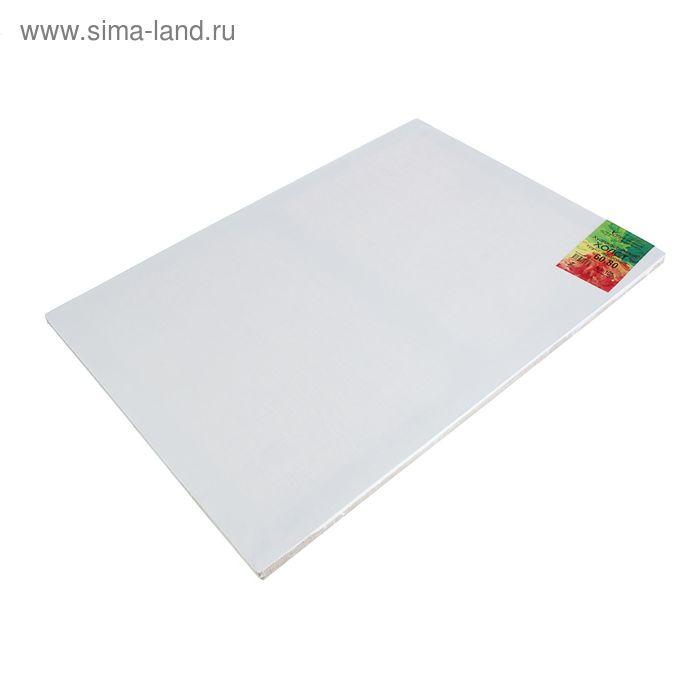 Холст на подрамнике лён 100% акриловый грунт 2*60*80 см мелкозернистый, 180 г/м²