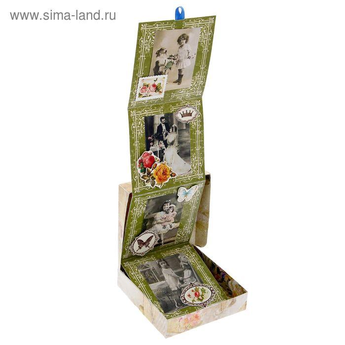 """Коробочка для хранения фотографий """"Винтаж"""", 11 х 11 см"""