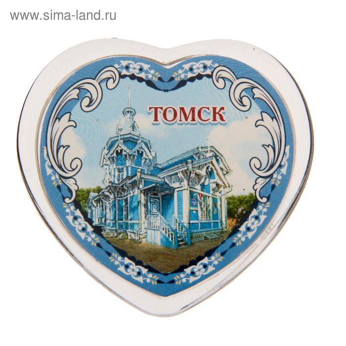 "Магнит в форме сердца ""Томск"""