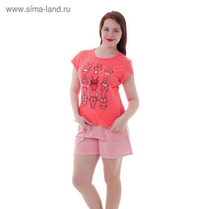 Пижама женская Кролики красные, р-р 52