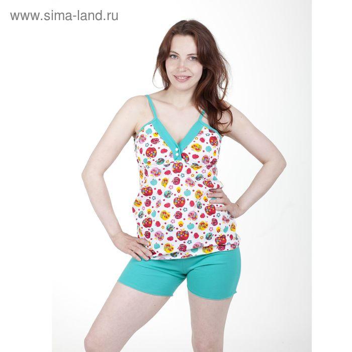 Пижама женская №17, цвет МИКС, размер 52