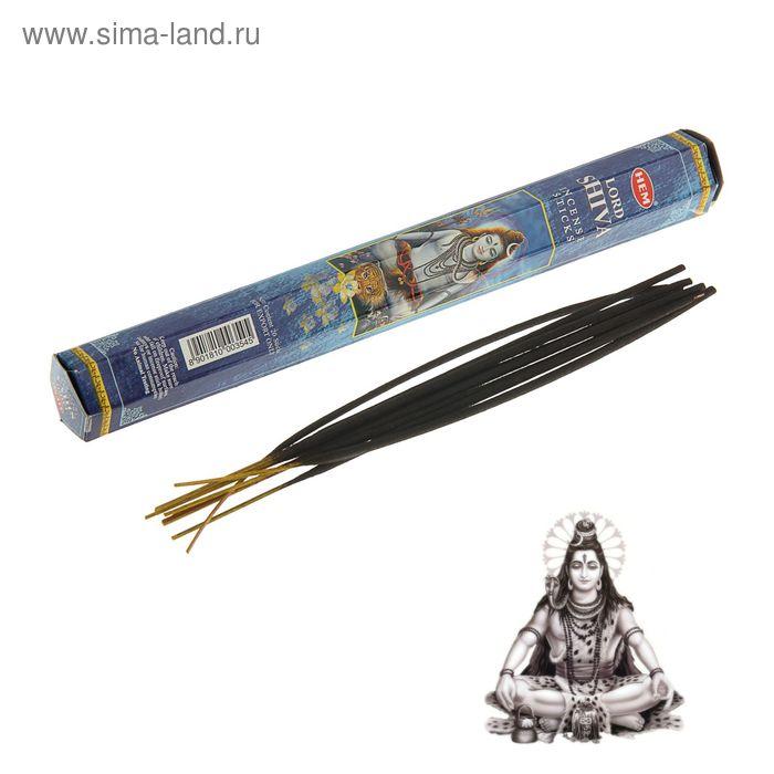 Благовония шестигранник HEM Hexa Lord Shiva Господь Шива 20 палочек в упаковке