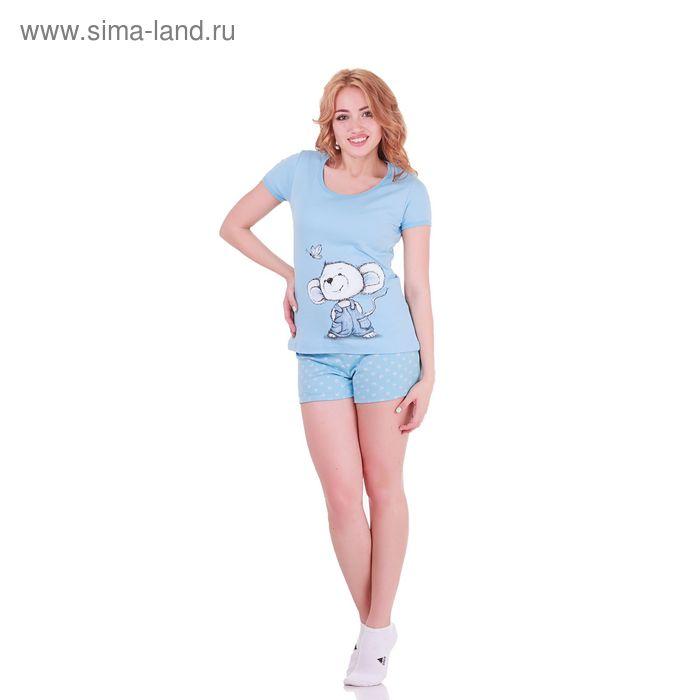 Пижама женская Mouse Collection 221141 голубой, р-р 44