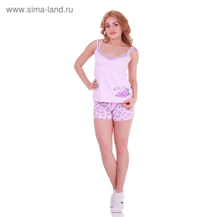 Пижама женская Цветочная 220741 лаванда, р-р 42