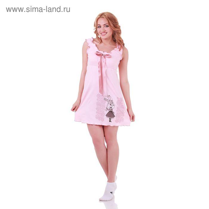 Сорочка женская Прованс 130841 пудра, р-р 46