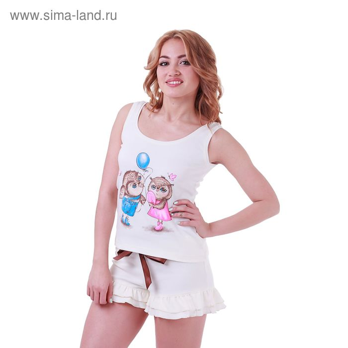 Пижама женская Совята 227841 экрю, р-р 44