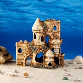 """Декорации для аквариума """"Трёхъярусный замок"""" микс"""
