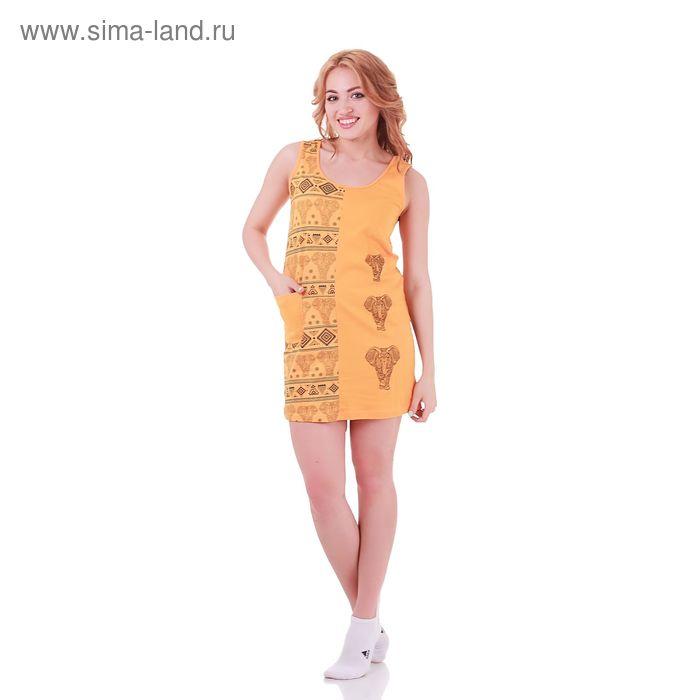 Туника женская Индийская 235521 жёлтый, р-р 52