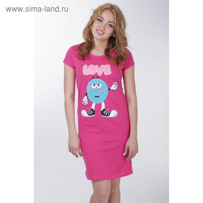 Сорочка женская ночная, цвет азалия, рост 158-164 см, размер 46 (арт.Р308089)