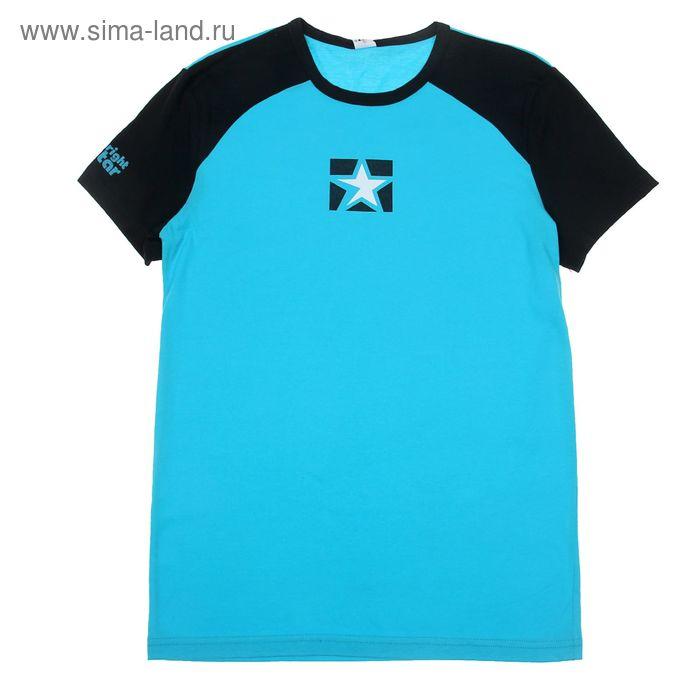 Футболка мужская спортивная, цвет бирюзовый, рост 182-188 см, размер 44 (арт. Р108054)