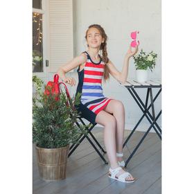 """Платье для девочки """"Цветная полоса"""", рост 134-140 см (36), полоса Р707700_Д"""