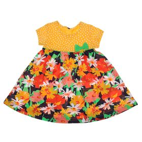 """Платье для девочки """"Веселые цветы"""", рост 134-140 см (34), цвет жёлтый (арт. Р707780)"""