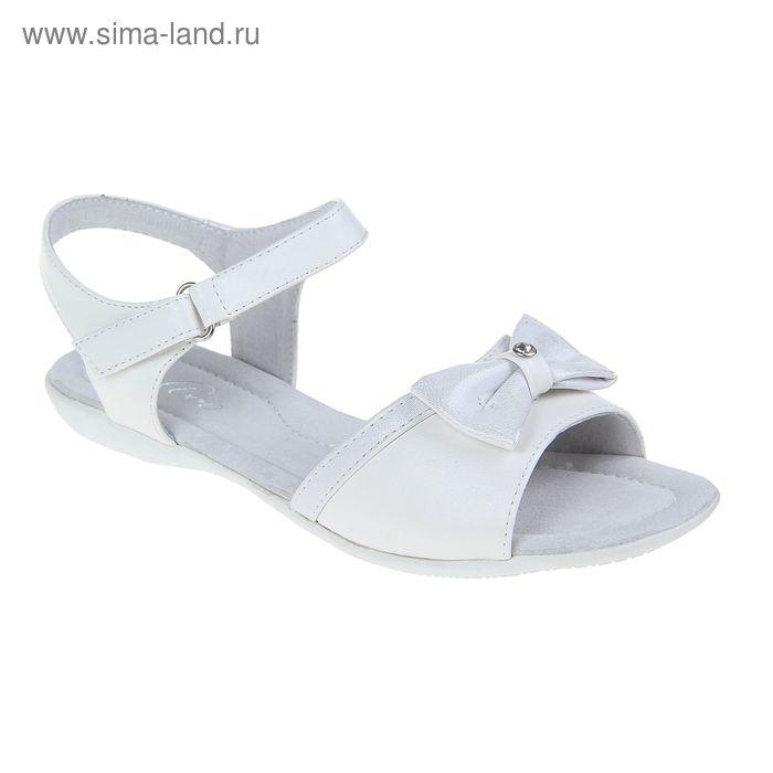 Туфли летние открытые для девочек, цвет белый, размер 34 (арт. С-42530)