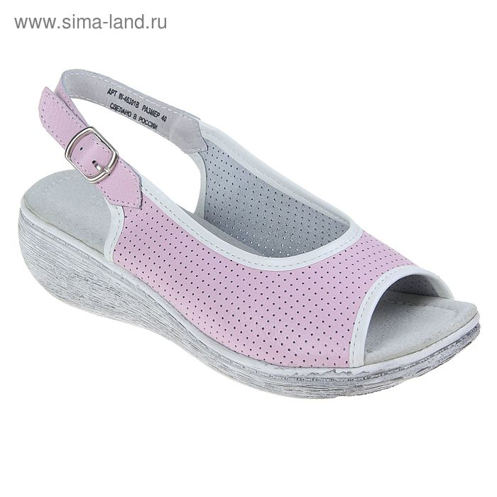 Туфли летние открытые женские, цвет розовый, размер 38 (арт. W-46301В)