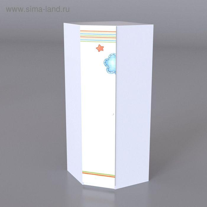 Шкаф для одежды детский угловой Непоседа 2000*800*800*500 Белый