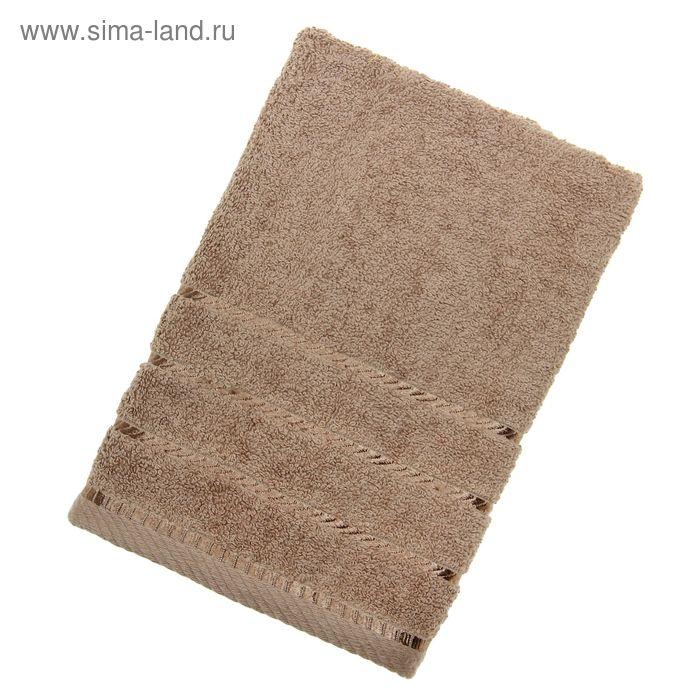 Полотенце махровое BERLIN Uni, размер 50х100 см, 470 г/м2, цвет светло-коричневый