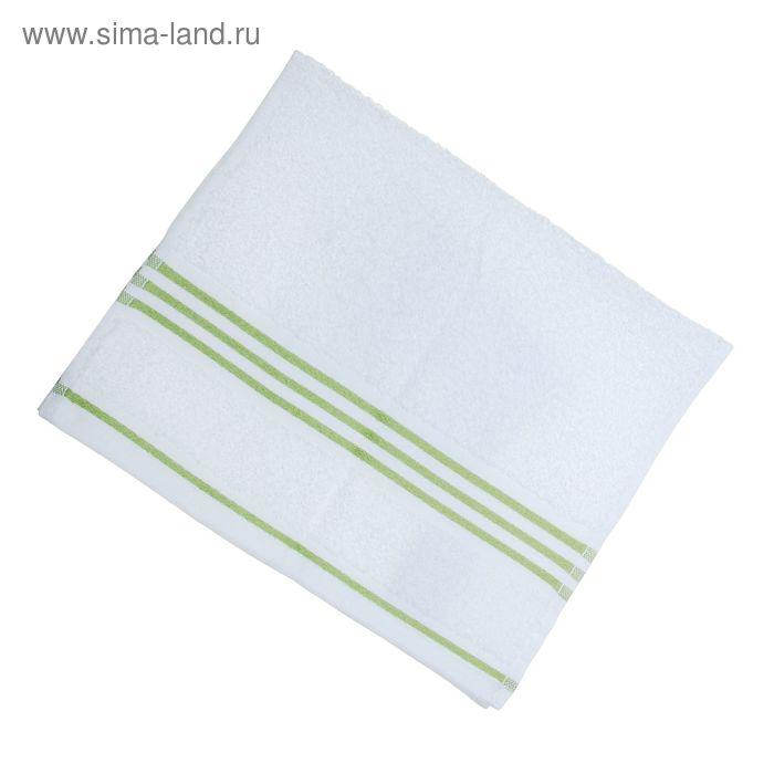 Полотенце махровое Rio-Uni weisgrundig, размер 30х50 см, 500 г/м2, цвет белый/зелёный