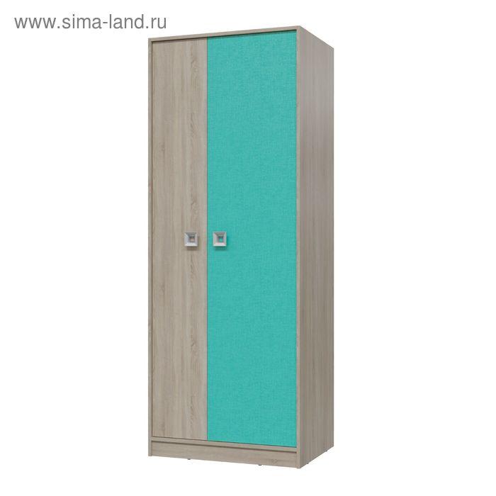 Шкаф для одежды СИТИ 800*585*2015 Дуб сонома/Аква