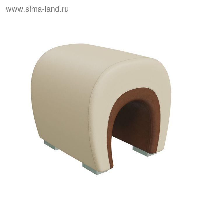 Банкетка ПОДКОВА 450*410*430 Кож.зам коричневый/Кож.зам бежевый