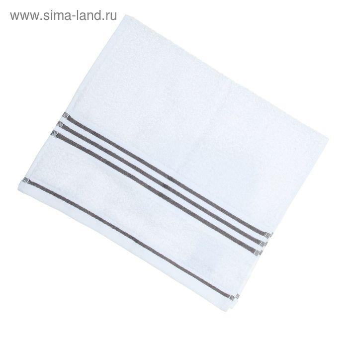 Полотенце махровое Rio-Uni weisgrundig, размер 30х50 см, 500 г/м2, цвет белый/серый