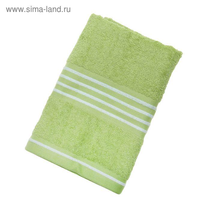 Полотенце махровое Rio-Uni vollfarbig, размер 50х100 см, 500 г/м2, цвет зелёный/белый