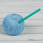 Крючок для вязания, 46201, алюминиевый, с пластиковой ручкой, d=2мм, 14см
