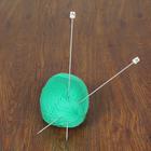 Спицы для вязания прямые, 31201, с пластиковым наконечником, d=2мм, 25см, 2шт