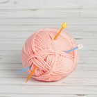 Спицы для вязания прямые, детские, 61259, d=4мм, 18см, 2шт, цвета МИКС