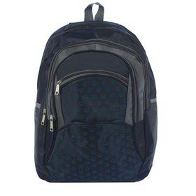 """Рюкзак молодёжный """"Круги"""", 1 отдел, 3 наружных и 2 боковых кармана, синий"""
