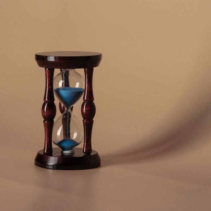 """Часы песочные """"Ретро"""" (старое дерово), 3 деревянные ручки, 11х6,5х6,5 см микс"""