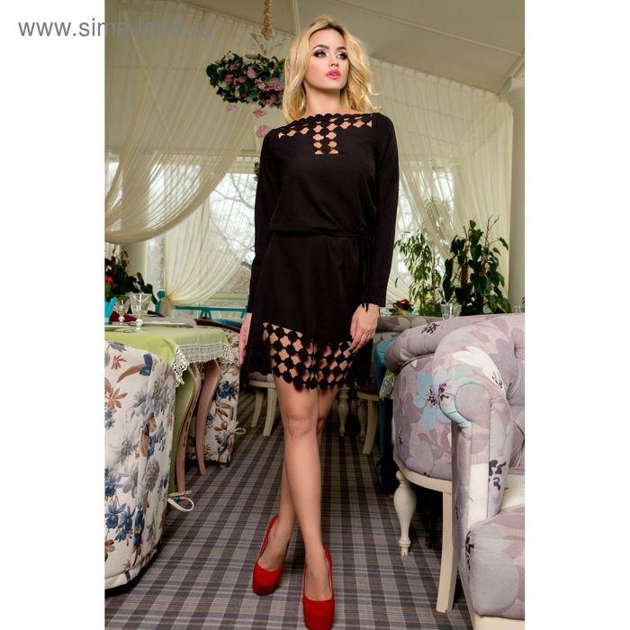 Платье женское, размер 50 (XXL), цвет чёрный (арт. 71180 С+)