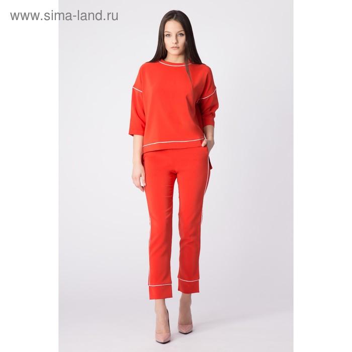 Костюм женский, размер 50 (XXL), цвет красный (арт. 75035B С+)
