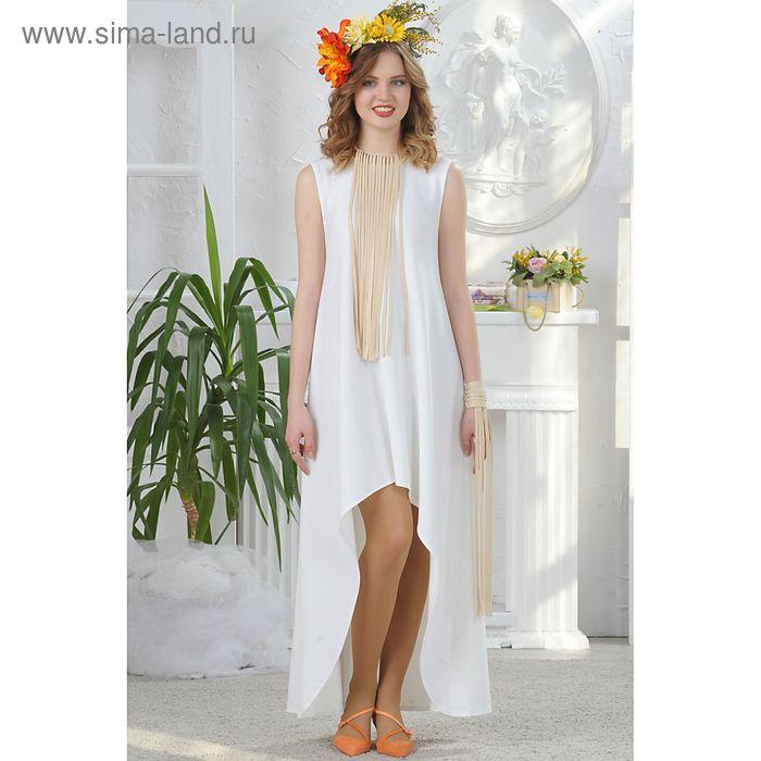 Платье, размер 46, рост 164 см, цвет белый (арт. 4676)