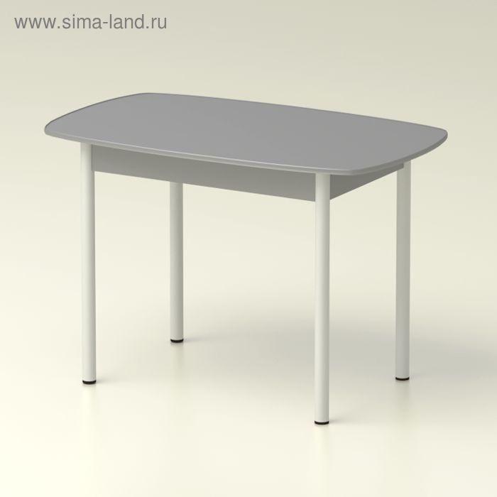 Стол обеденный  овальный 1160х710 титан