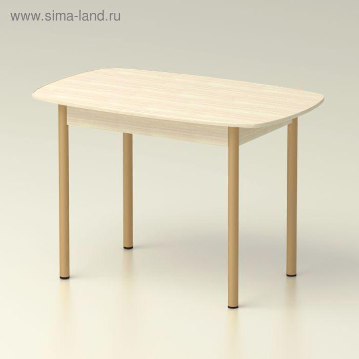 Стол обеденный  овальный 1160х710 дуб млечный