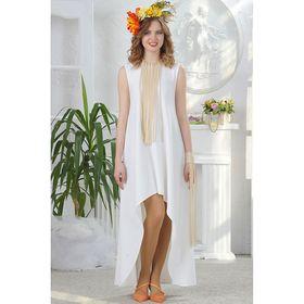 Платье, размер 44, рост 164 см, цвет белый (арт. 4676)
