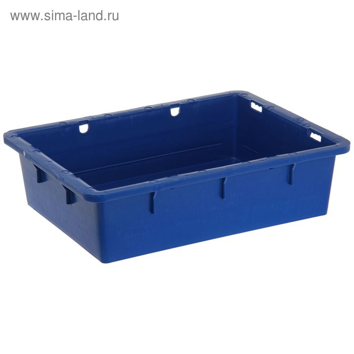 "Ящик п/э 53,2х40х14,1 см, без крышки ""Сырково-творожный"", цвет синий"