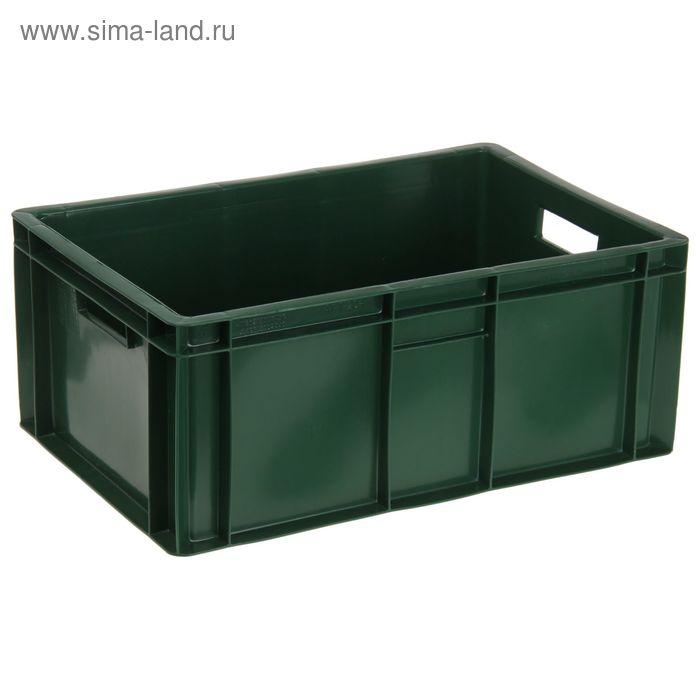 """Ящик п/э 60х40х25 см """"Мясной"""", цвет зеленый"""