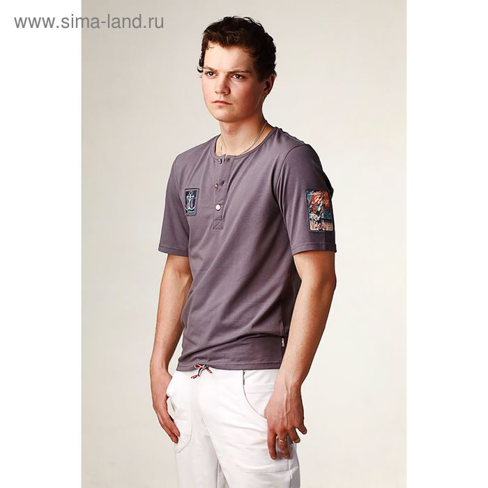 Джемпер мужской, цвет серый, размер 52 (арт. М-507-02)