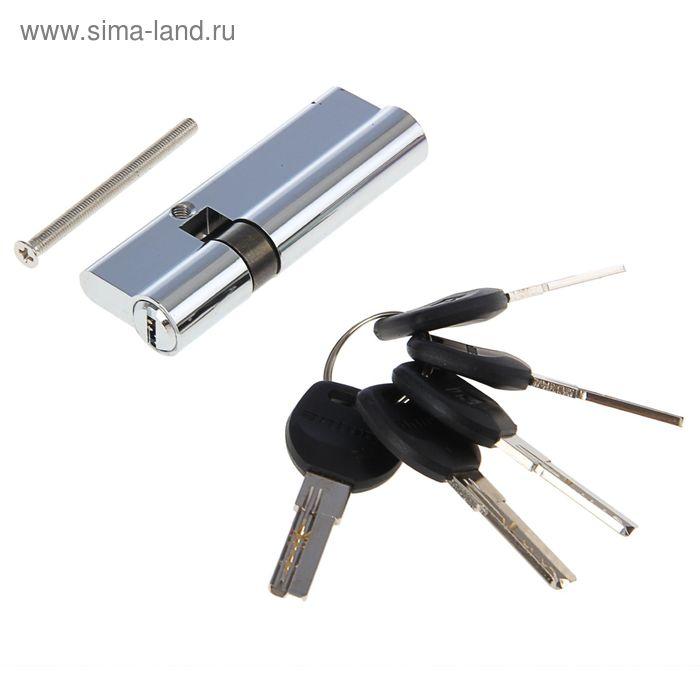 """Цилиндровый механизм """"АЛЛЮР"""" HD F 90-5К CP, с перфоключем, 25x10x55 мм, цвет хром"""