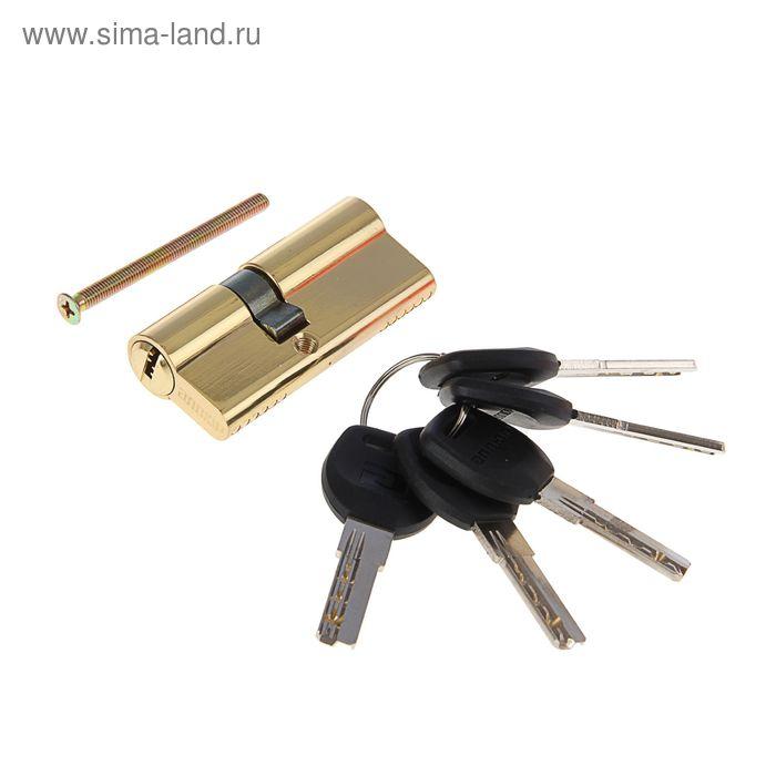 """Цилиндровый механизм """"АЛЛЮР"""" HD F 70-5К BP, с перфоключем, цвет латунь"""