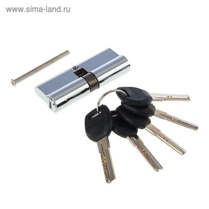 """Цилиндровый механизм """"АЛЛЮР"""" HD F 80-5К CP, с перфоключем, цвет хром"""