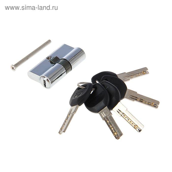"""Цилиндровый механизм """"АЛЛЮР"""" HD F 60-5К CP, с перфоключем, цвет хром"""