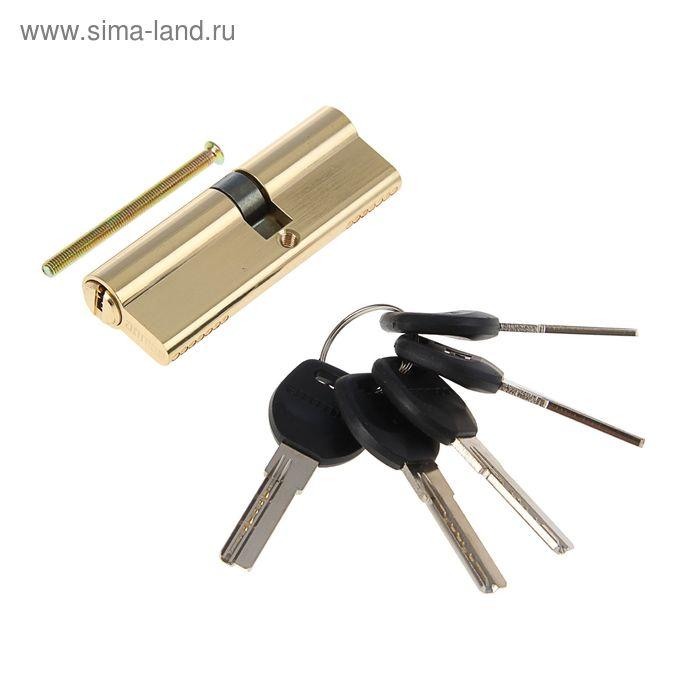 """Цилиндровый механизм """"АЛЛЮР"""" HD F 90-5К BP, с перфоключем, 35x10x45 мм, цвет латунь"""