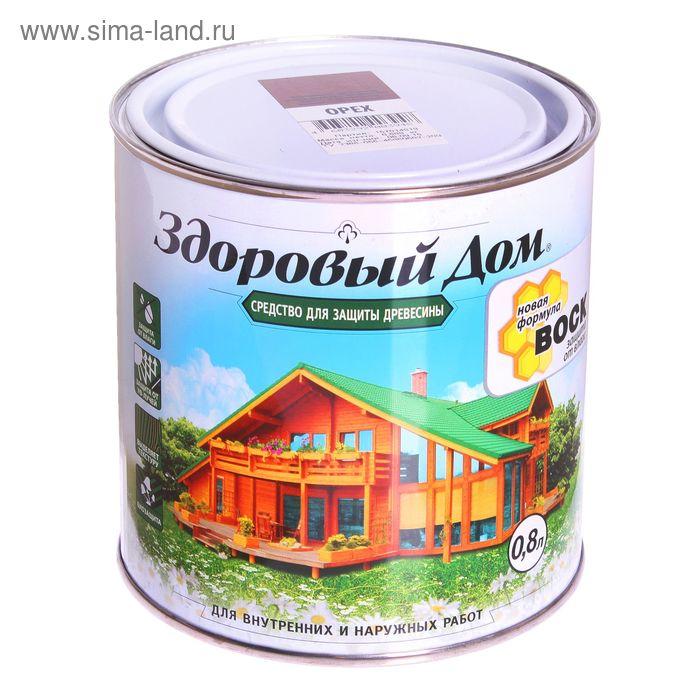 Средство для защиты древесины, орех, 0,8 л