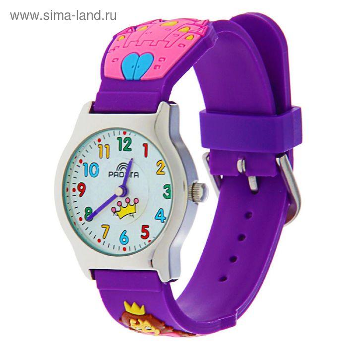"Часы наручные ""Радуга"", фиолетовые,  принцесса"