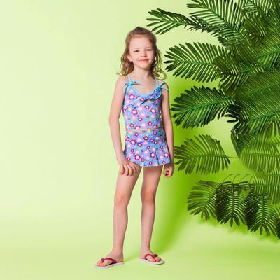 """Детский раздельный купальник """"Голубое облачко"""" ( рост 110-116 см, 4-5 лет), 100% полиэстер"""
